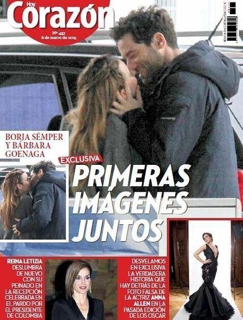 La primera portada de Borja Sémper y Bárbara Goenaga.