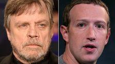 Μαρκ Χάμιλ Παίρνει Ένα Φωτόσπαθο Του Facebook Λογαριασμού Και Τον Mark Zuckerberg