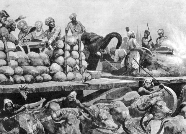 Siraj Ud Daulah's artillery on its movable