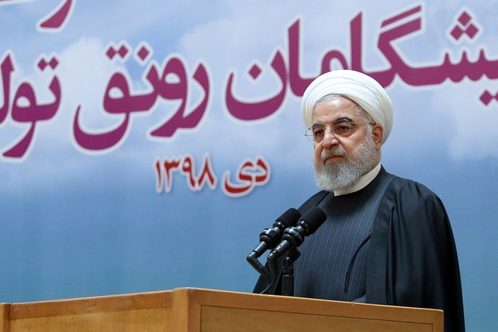 Iranian President Hassan Rouhani speaks during a meeting in Tehran on Tuesday in this image released by official website of the Office of the Iranian Presidency.
