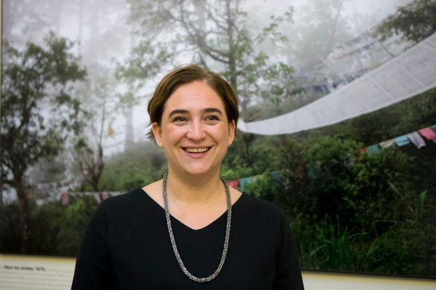 Ada Colau, en la Cumbre por el Clima de París, en