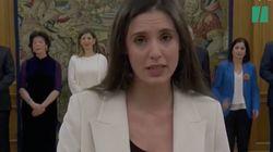 La RAE asegura que lo que hizo Irene Montero al prometer su cargo no es
