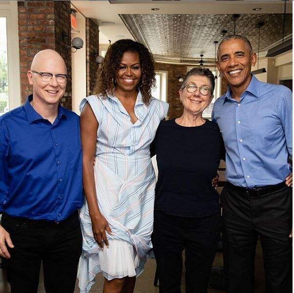 Το ζεύγος Ομπάμα μαζί...