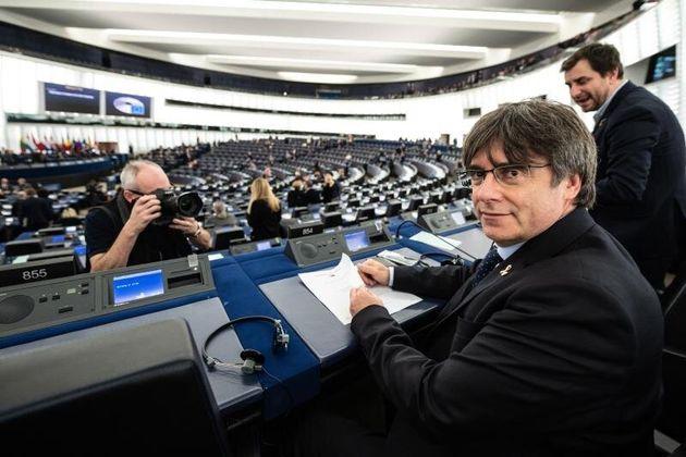 Carles Puigdemont en el Parlamento Europeo EFE/EPA/PATRICK