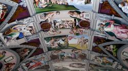 Η μικρή εκκλησία στο Σάσεξ με την οροφή - αντίγραφο της Καπέλα