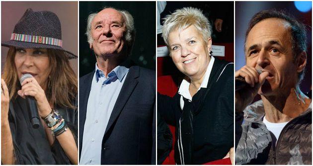 Qui de Zazie, Maxime Le Forestier, Mimie Mathy ou Jean-Jacques Goldman a été le plus présent pour Les...