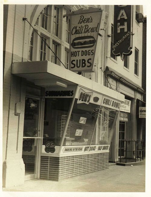 The original storefront of Ben's Chili Bowl.