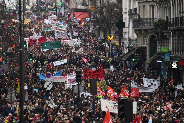La manifestation du 9 janvier 2020, au 36ème jour de grève contre la réforme des