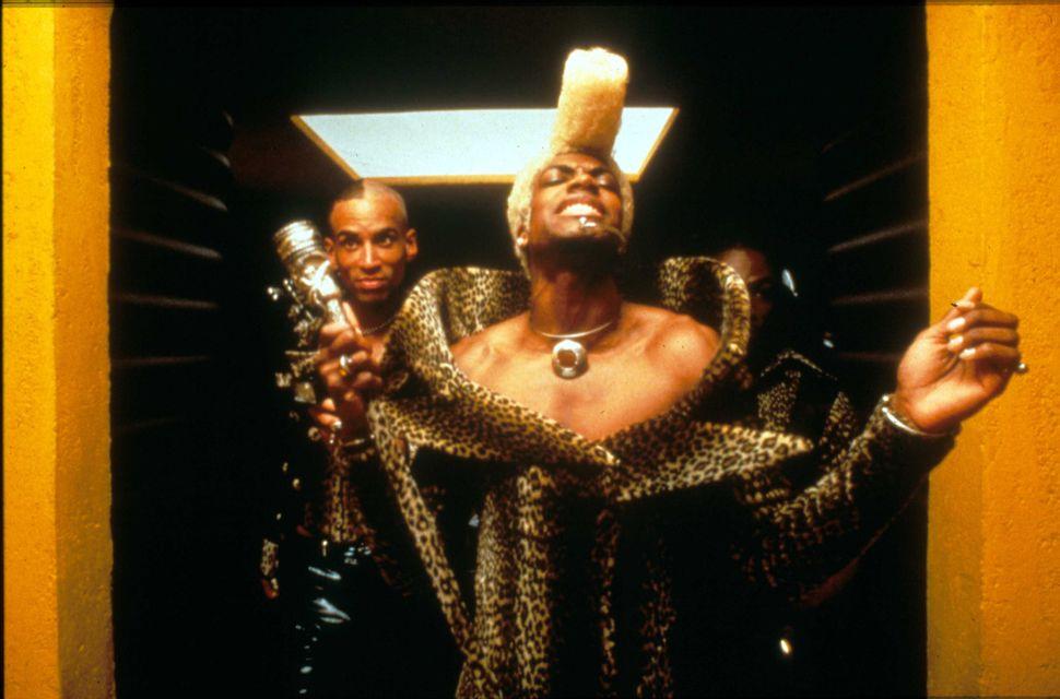"Chris Tucker as Ruby Rhod in 1997's ""Fifth Element."""