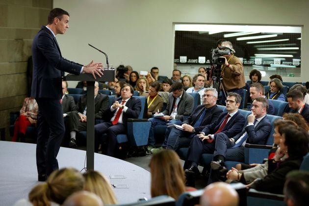 Sánchez, en la rueda de prensa tras el Consejo de