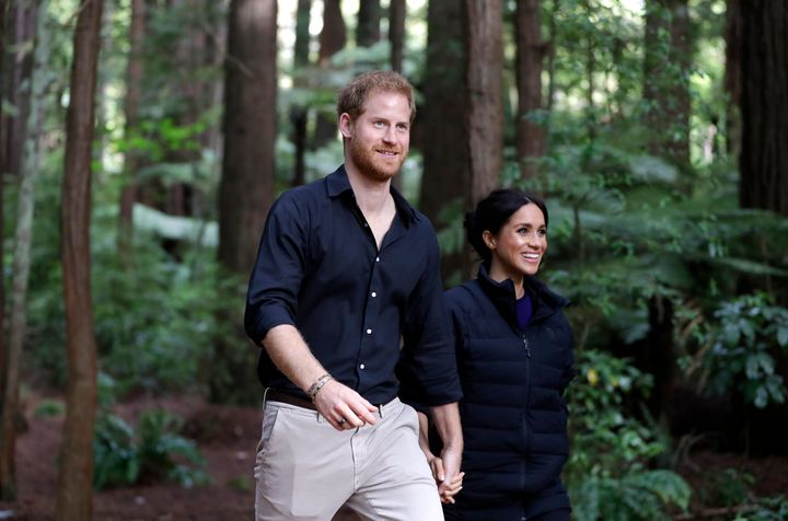 The Duke and Duchess of Sussex take a quiet hike in New Zealand during their royal tour.