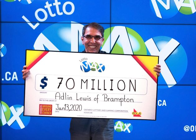Ontario Man Adlin Lewis Wins $70 Million Lotto Max
