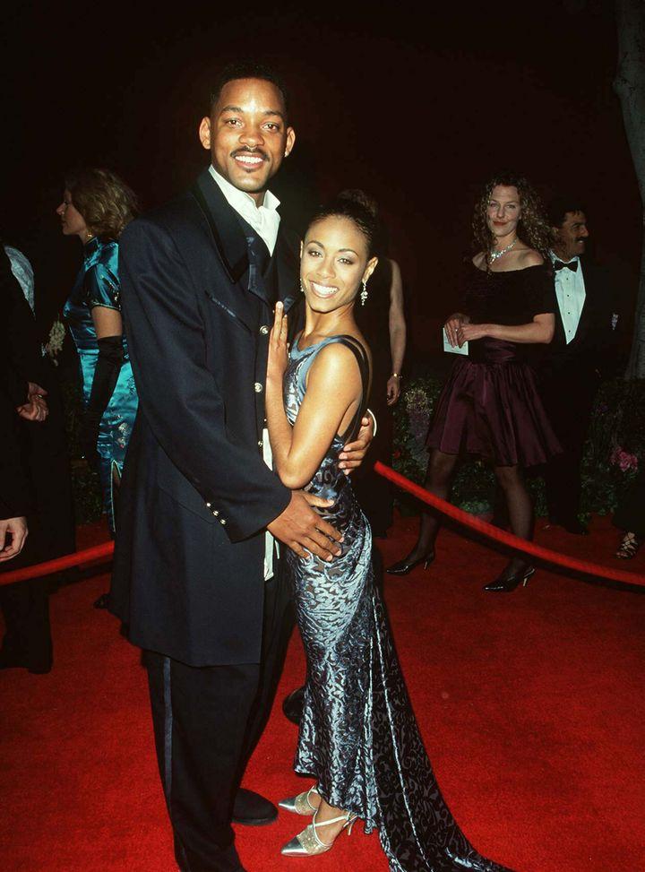 Will Smith and Jada Pinkett smith at the Oscars in 1996.