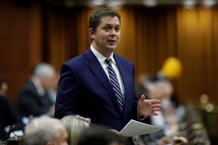 Andrew Scheer speaks during Question Period in the House of Commons in Ottawa on Dec. 12, 2019.