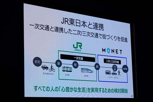 ▲モネが2019年3月「MONETコンソーシアム」のイベントの中で提示したスライド