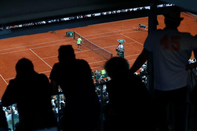 Rafael Nadal et Dominic Thiem pendant la finale homme 2019 à Roland