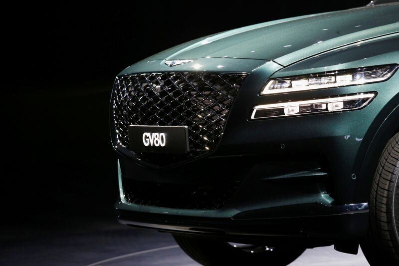 Hyundai Motor Genesis GV80 SUV is seen during its unveiling ceremony in