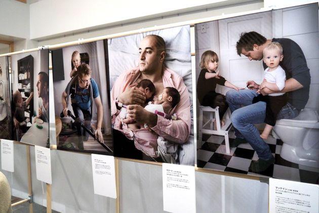 写真展『スウェーデンのパパたち』(1月15日、スウェーデン大使館)