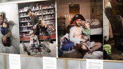 育児に奮闘するパパ達の写真展。スウェーデン大使館に触発されて、積水ハウスでも実施へ