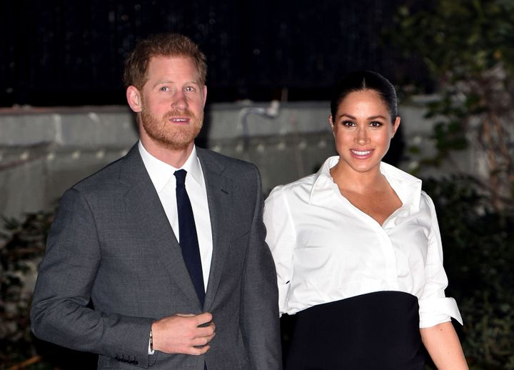 """Prince Harry and Meghan Markle, the Duke and Duchess of Sussex, announced last week that they would """"step back"""" as senior mem"""