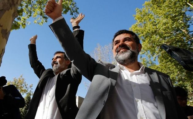 El expresidente de la ANC Jordi Sànchez y el líder de Òmnium Cultural, Jordi