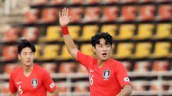 '한국 vs 우즈벡' 전반전이 1-1로