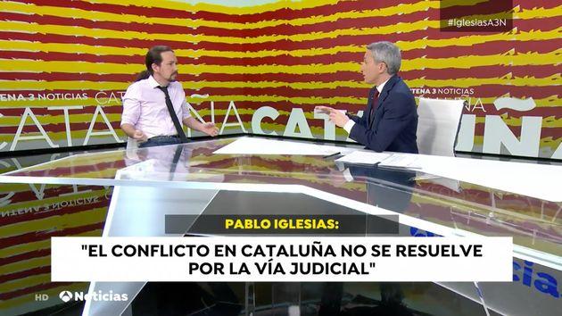 Vicente Vallés entrevista a Pablo Iglesias el 14 de enero de