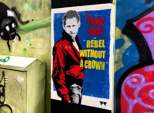 Prince Harry Is A Rebel Without A Crown In New London Street Art Mural