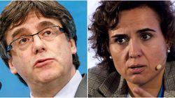 Primer encontronazo entre Carles Puigdemont y Dolors Montserrat en el Parlamento
