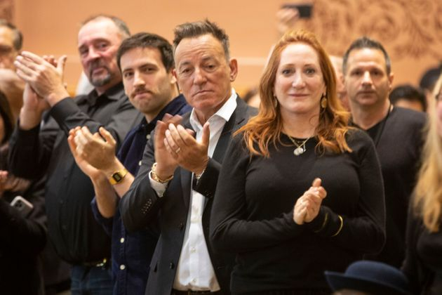Bruce Springsteen and Patti Scialfa applauded as their son Sam Springsteen was sworn in as a Jersey City...