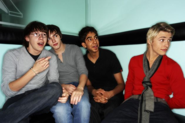 The cast of Skins pictured in
