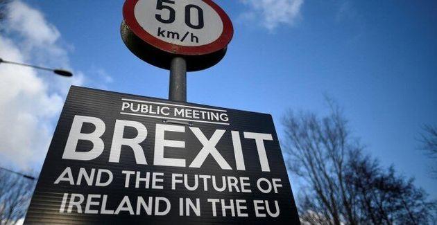 Cartel sobre el Brexit en