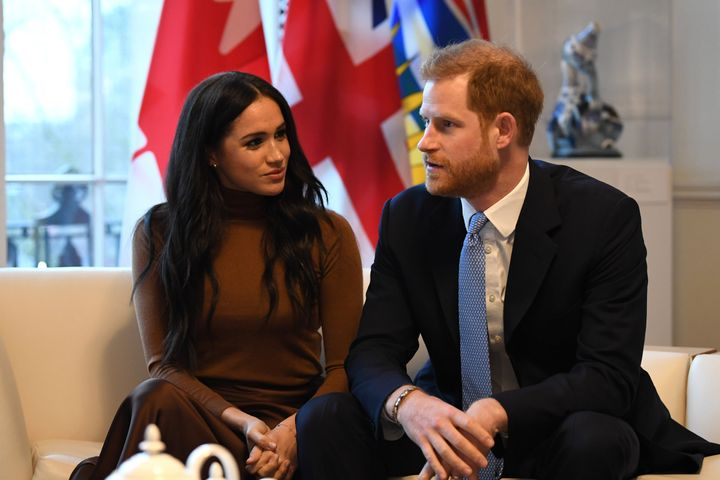 Prince Harry and Meghan at Canada House on Jan. 7, 2020 in London, England.
