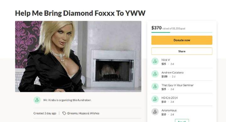 GoFundMe for Diamond Foxxx Date