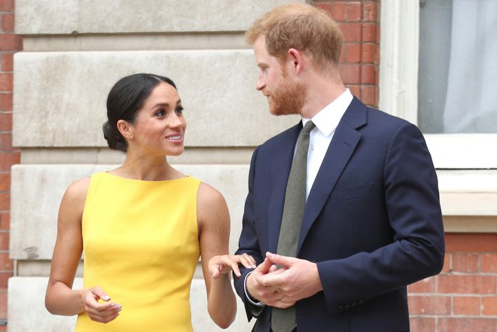 January 9th 2020 - Prince Harry The Duke of Sussex and Duchess Meghan of Sussex intend to step back their duties and responsibilities as senior members of the British Royal Family. - File Photo by: zz/KGC-375/STAR MAX/IPx 2018 7/5/18 Prince Harry The Duke of Sussex and Meghan Markle The Duchess of Sussex attend the Your Commonwealth Youth Challenge reception at Marlborough House. (London, England, UK)