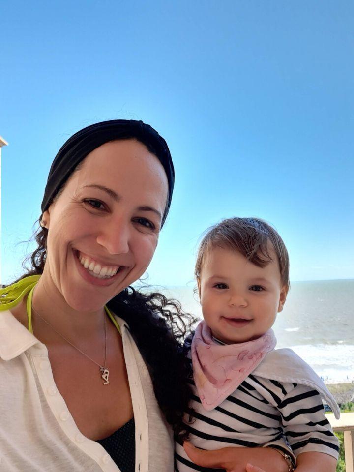 Rachel Jimenez-Katsman and her daughter, Zoe.