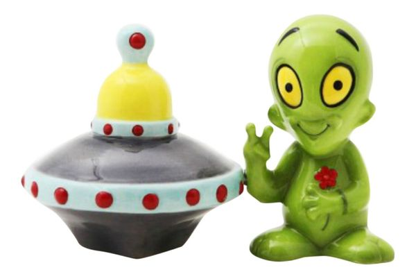 "Your mom will surely find ""space"" for this <a href=""https://www.houzz.com/products/little-green-alien-and-flying-saucer-salt-"