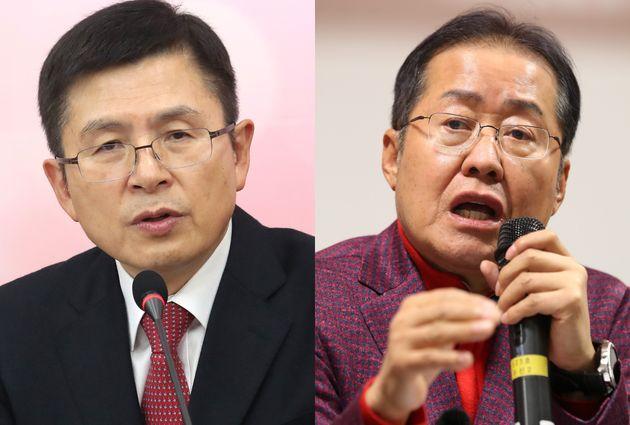 황교안 현 자유한국당 대표와 홍준표 전