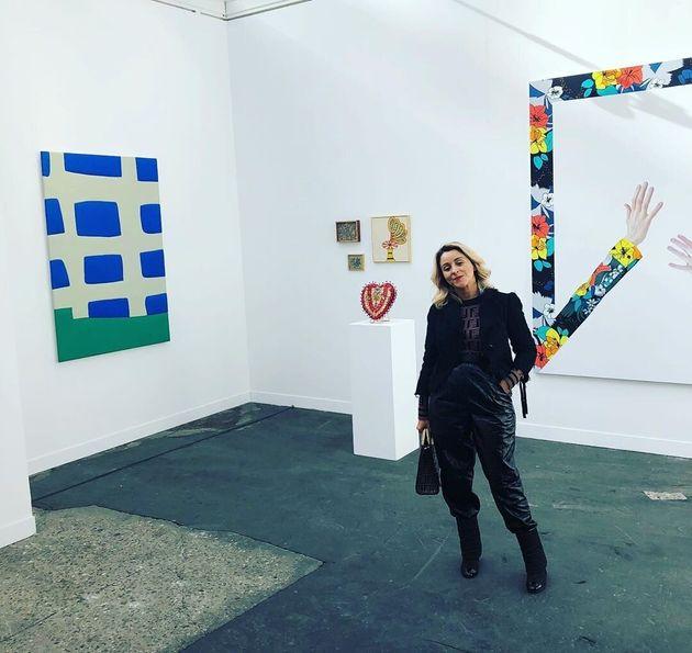 Alejandra Castro Rioseco en la feria FIAC París