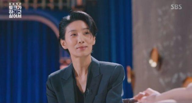 배우 김서형이 '김주영 쓰앵님'의 모습으로 찍는 광고를 거절한