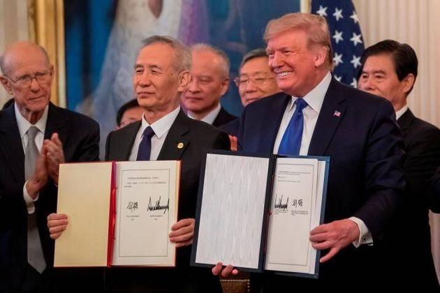 EEUU y China firman la fase 1 del acuerdo