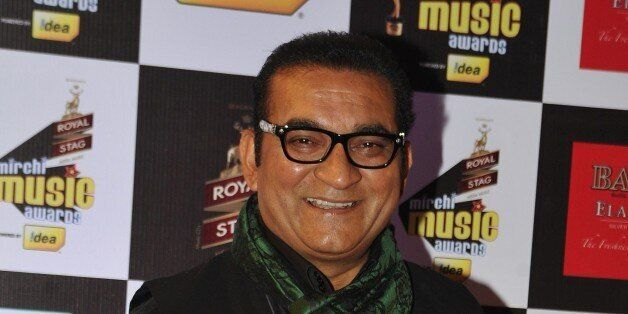 Indian Bollywood play back singer Abhijeet Bhattacharya attends the 'Mirchi Music Awards 2015' ceremony...
