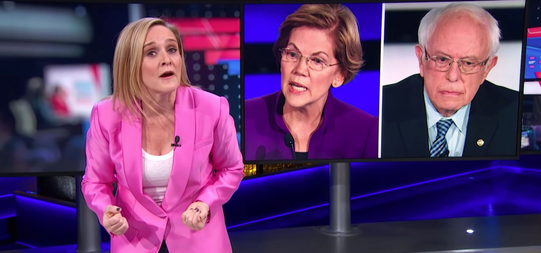 Sam Bee Shreds CNN's Stoking ...