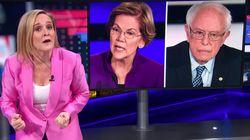 Sam Bee Shreds CNN's Stoking Of Tensions Between Warren,
