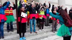 Le lac des cygnes de l'opéra de Paris fait des émules contre la réforme des