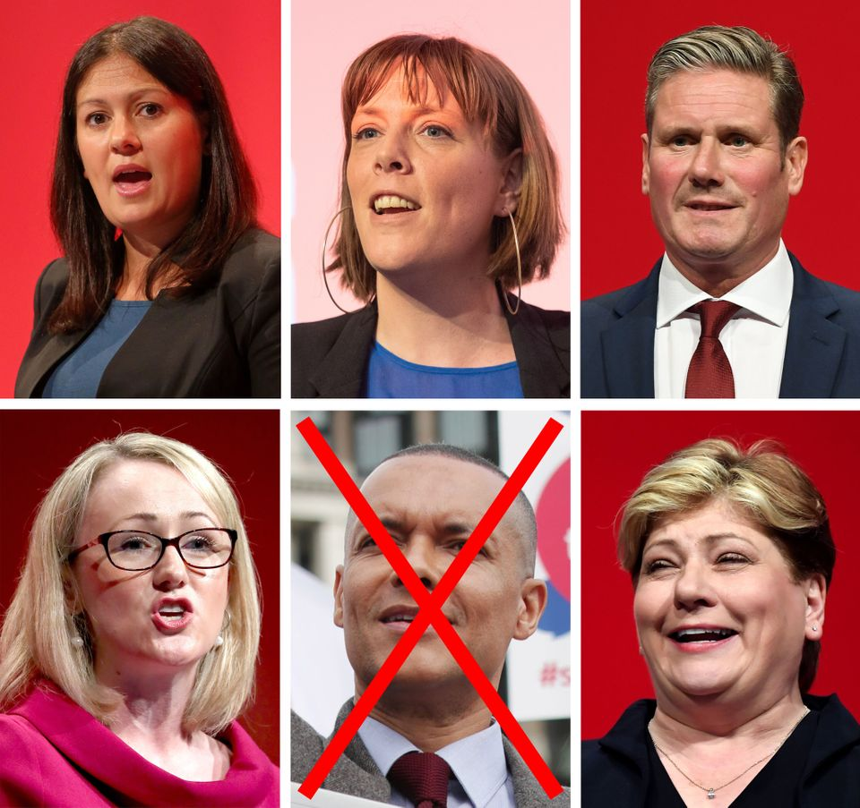 File photos of (left to right) Labour MPs Lisa Nandy, Jess Phillips, Keir Starmer, Rebecca Long-Bailey,...
