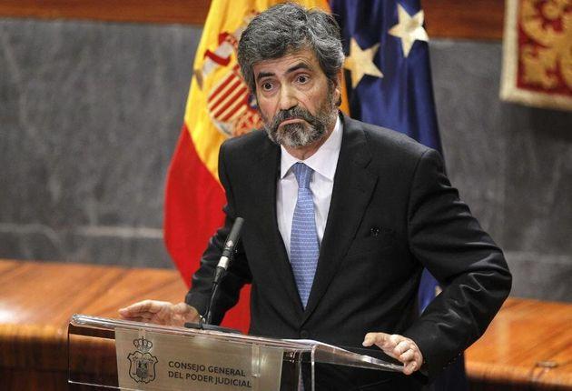 El presidente del Consejo General del Poder Judicial y del Tribunal Supremo, Carlos