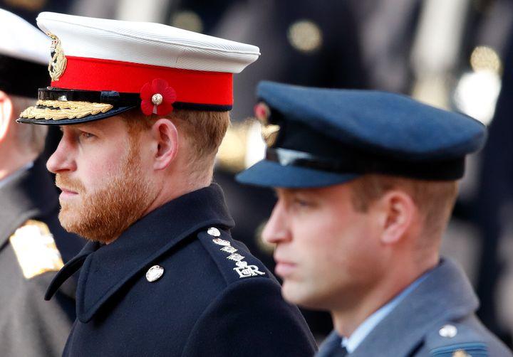 El príncipe Harry y el príncipe Guillermo, en una imagen de noviembre de 2019.
