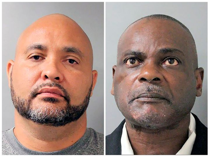 Former Houston police officers Steven Bryant (left) and Gerald Goines have been indicted by a Texas grand jury for their role