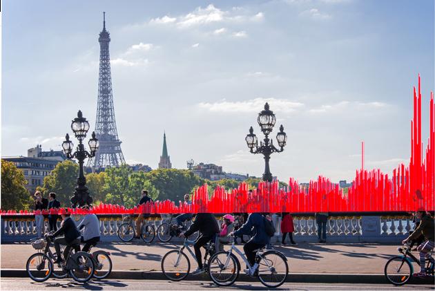 Depuis le 5 décembre, la circulation des vélos à Paris a explosé, une tendance qui se confirme malgré...